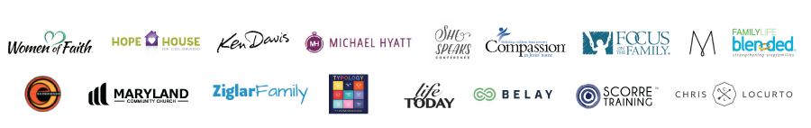 Logos of some of the major organization Michele has spoken for