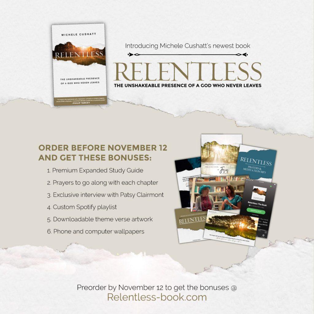 Relentless Book Pre-order Bonuses